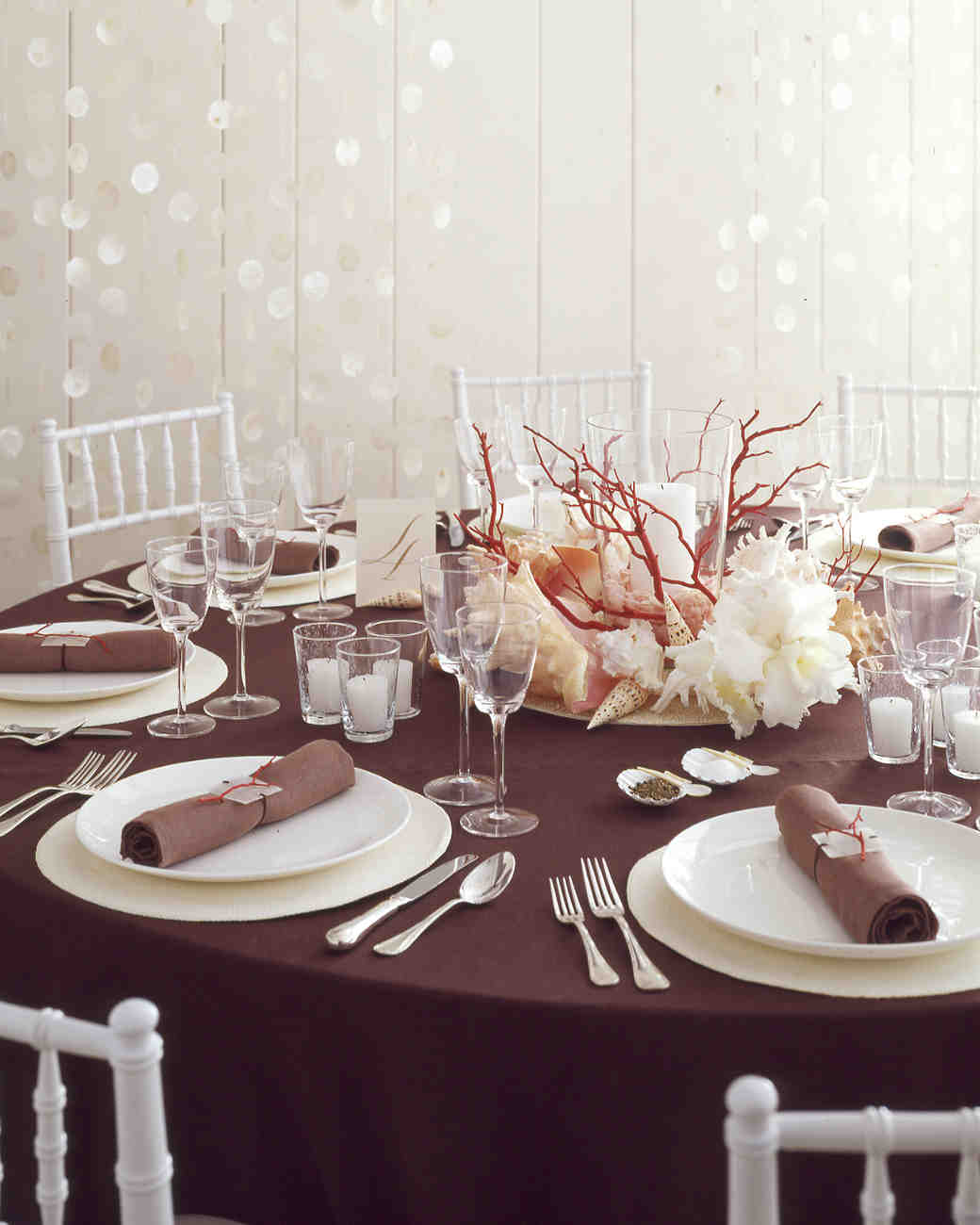 Coral and Shell Centerpiece