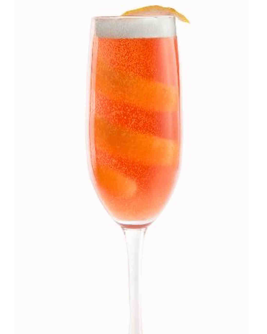 Sparkling rosé cocktail