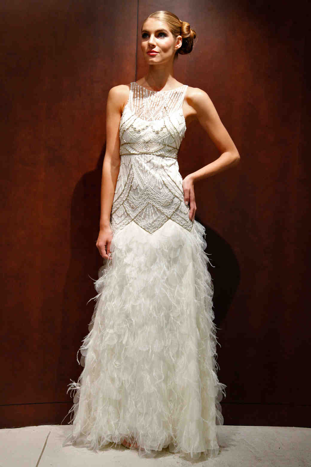 glamorous hollywood style wedding dresses fall bridal fashion week