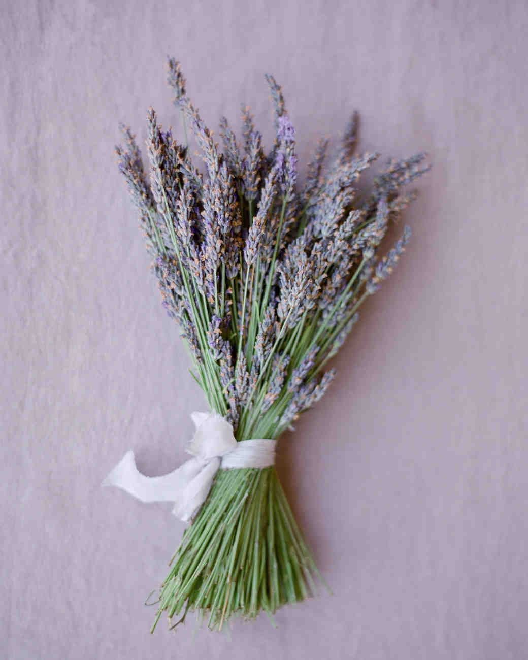 Simple lavender wedding bouquet