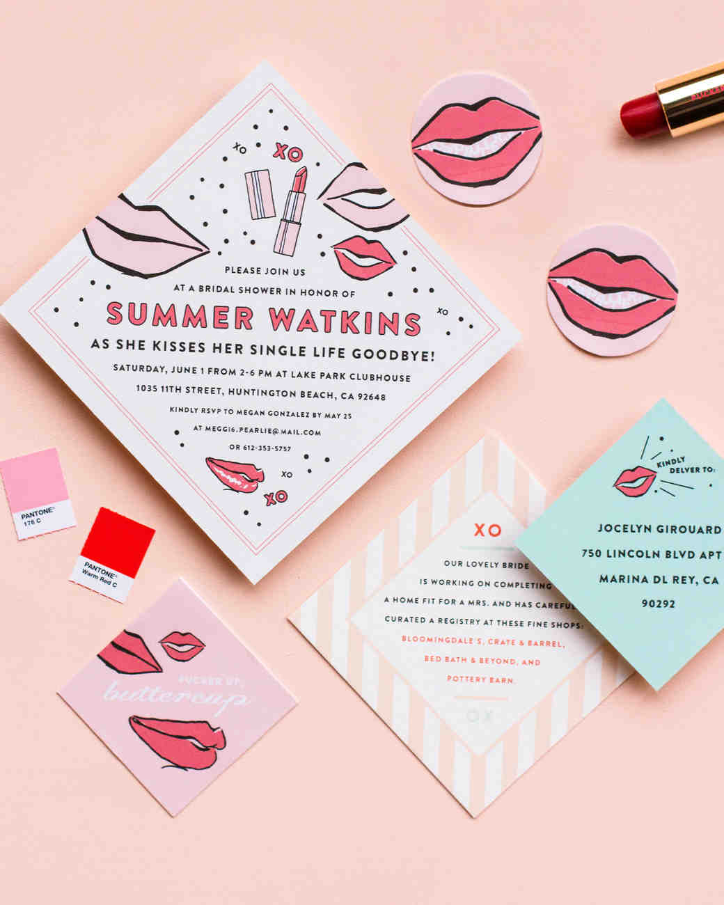 the etiquette of bridal showers  martha stewart weddings, invitation samples