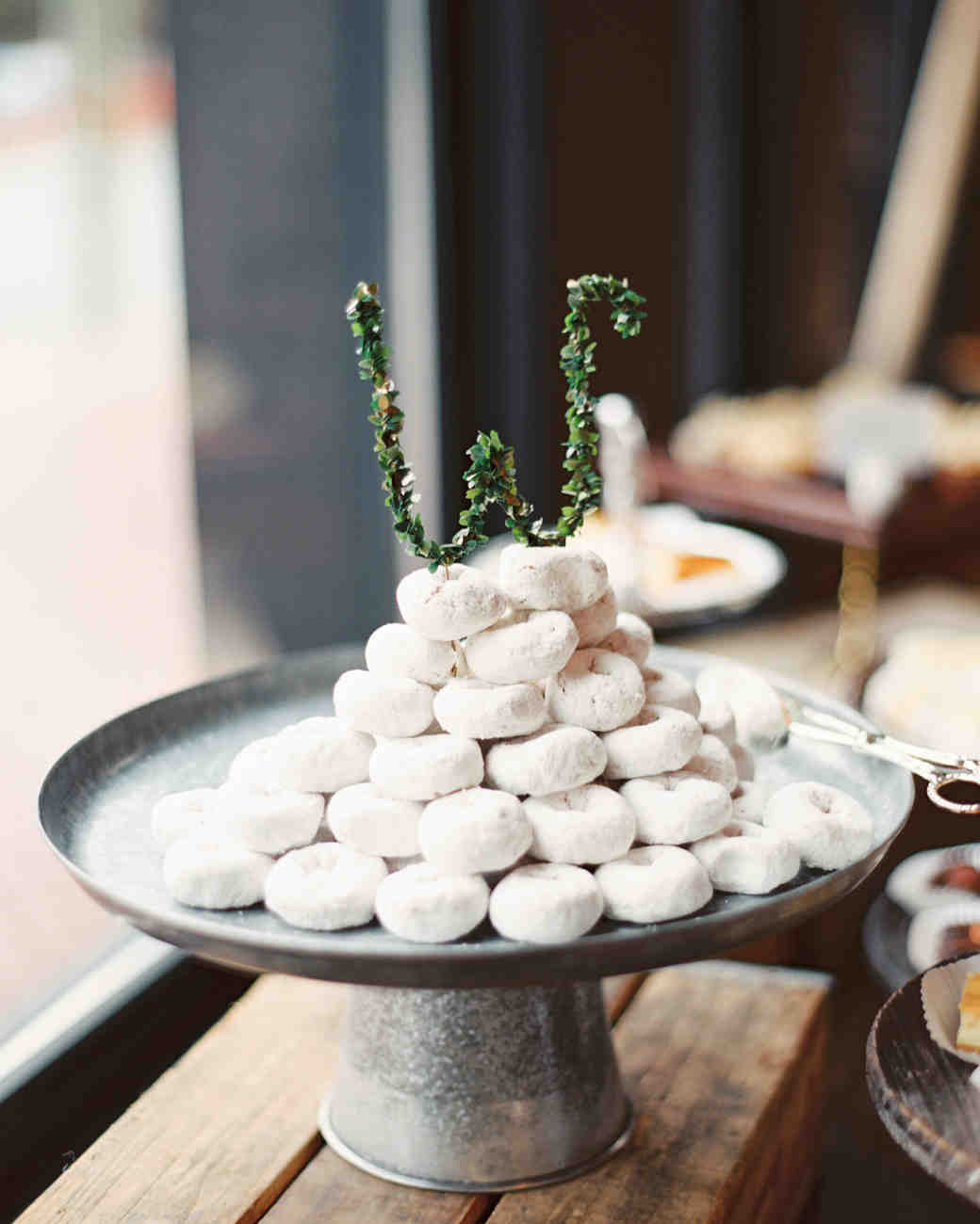 Mini Donut Wedding Cake