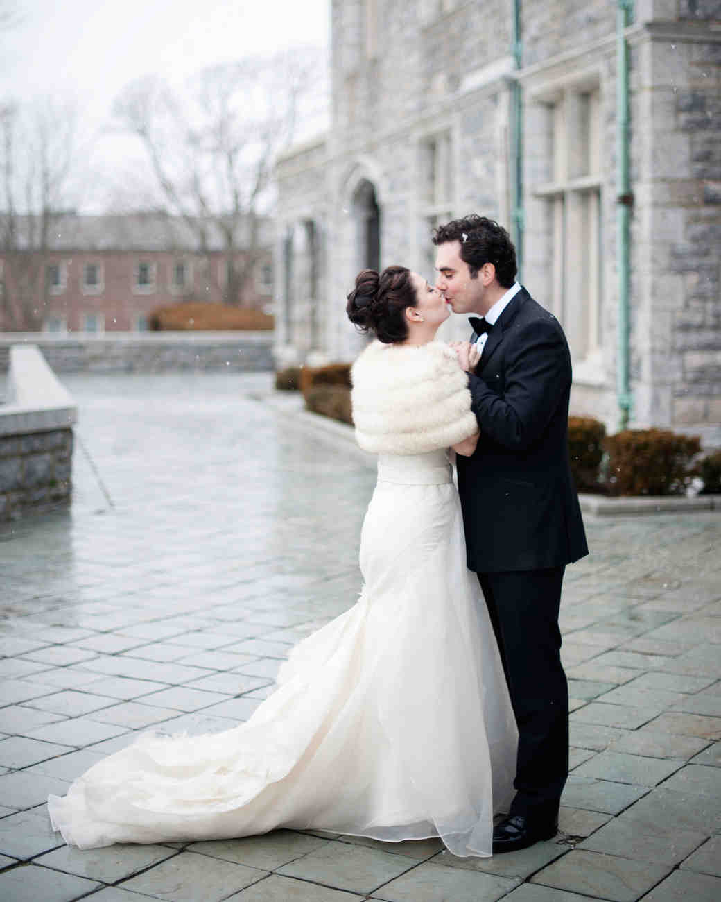 Vintage Wedding Dresses Nyc: An Intimate, Formal Winter Wedding In Connecticut