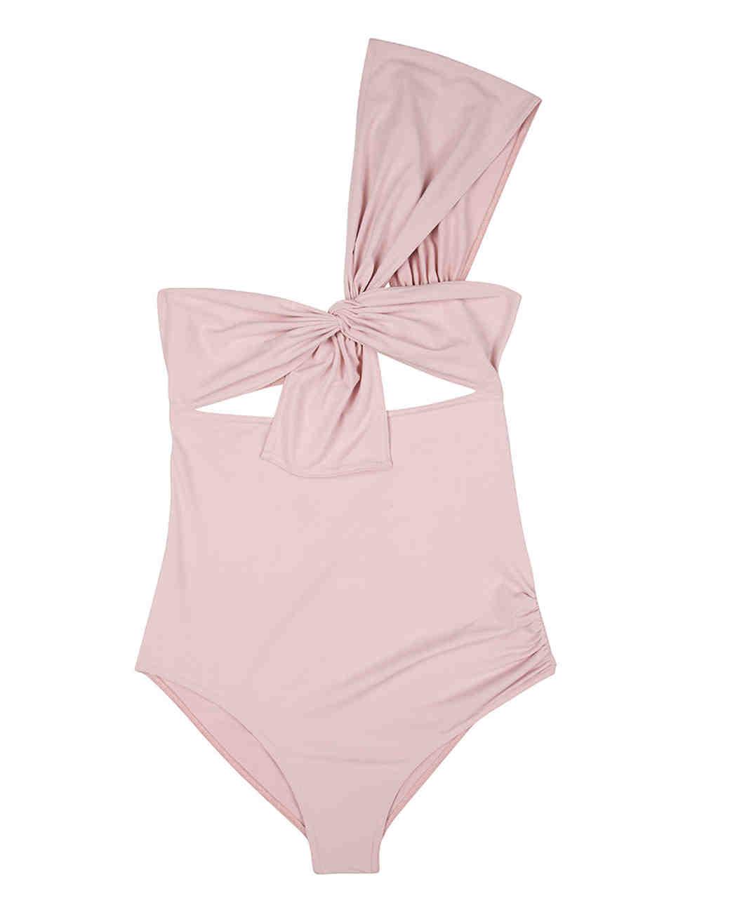 Blush Shoulder Bow Swimsuit