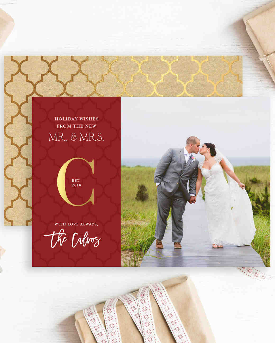 newlywed holiday cards mr mrs