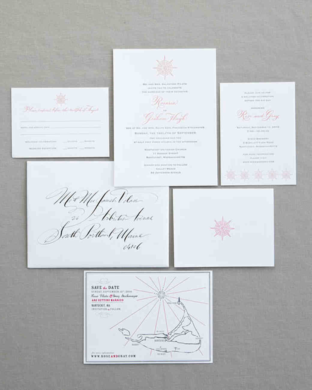 Compass Rose Stationery Suite