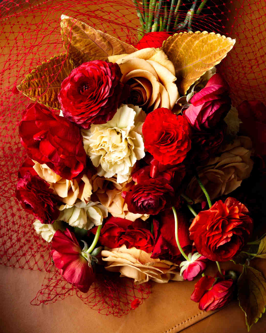 Romantic Red Wedding Ideas: 34 Romantic Red Wedding Bouquets