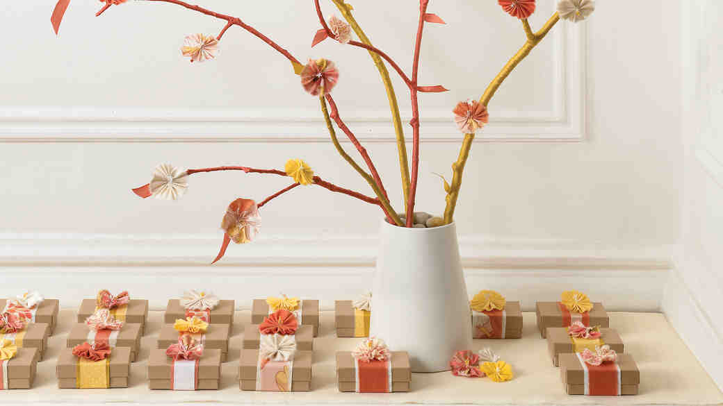 Wrapped Branch Centerpiece