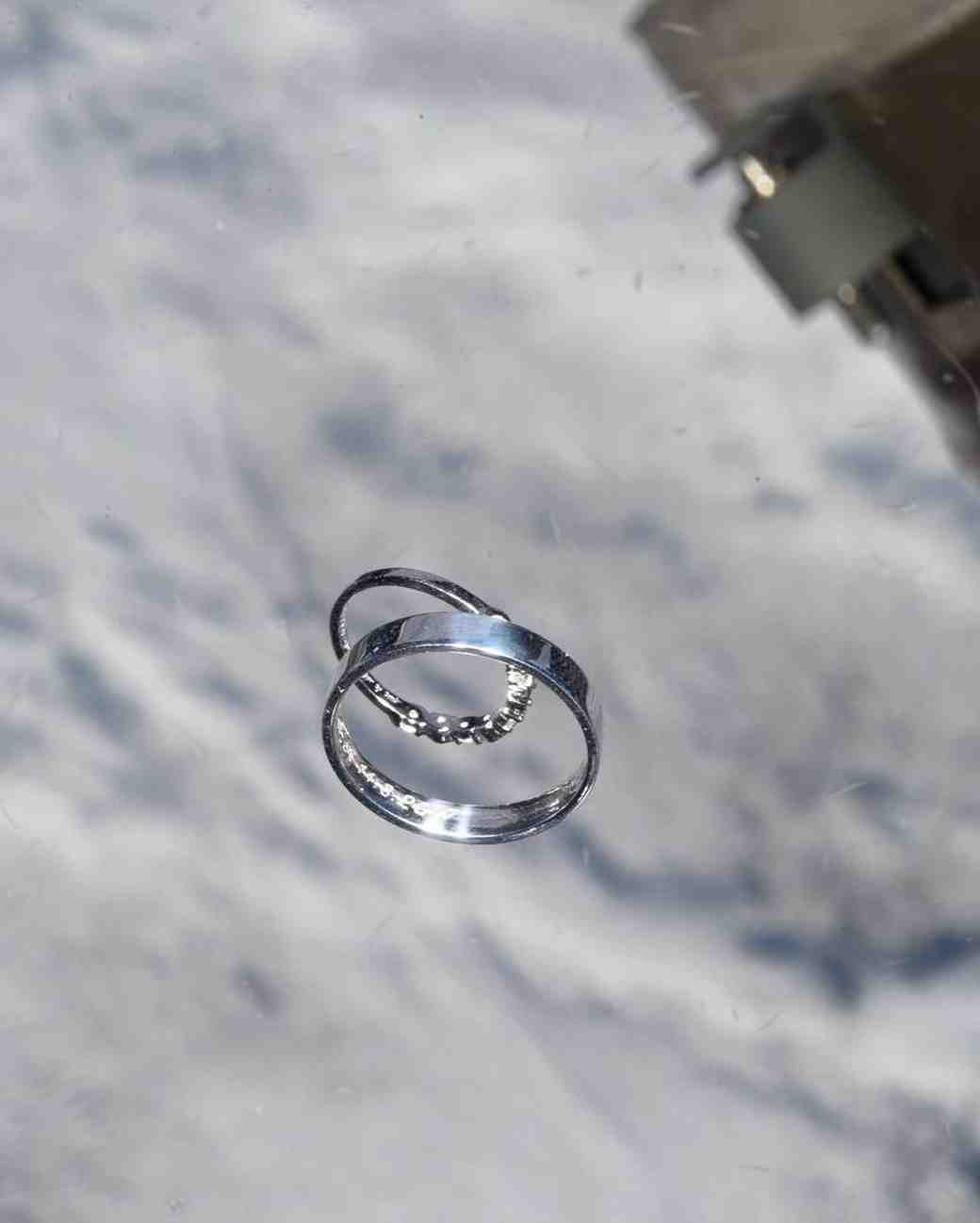 wedding rings in space