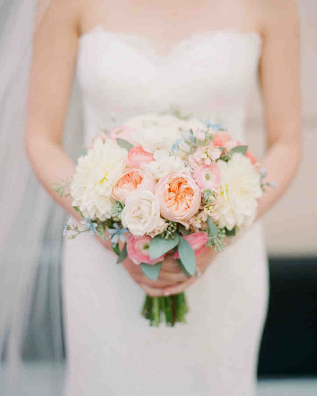 Simple Blush and White Bridal Bouquet