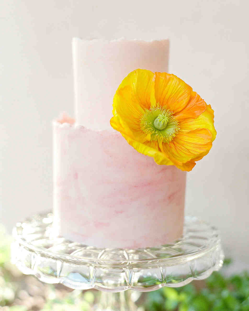 Pink Wedding Cake with Deckle Edge