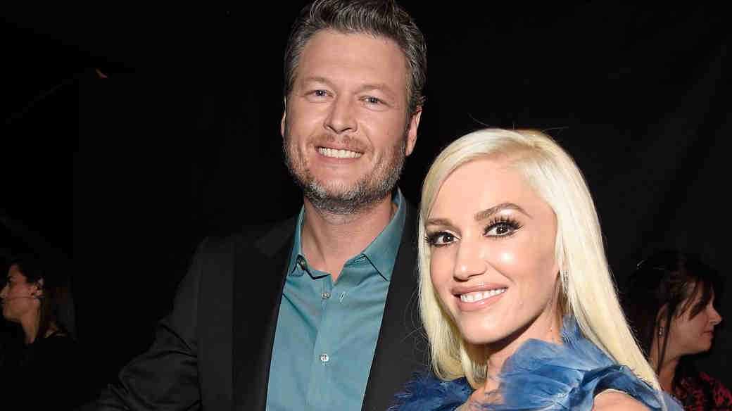 Gwen Stefani and Blake Shelton at the People's Choice Awards