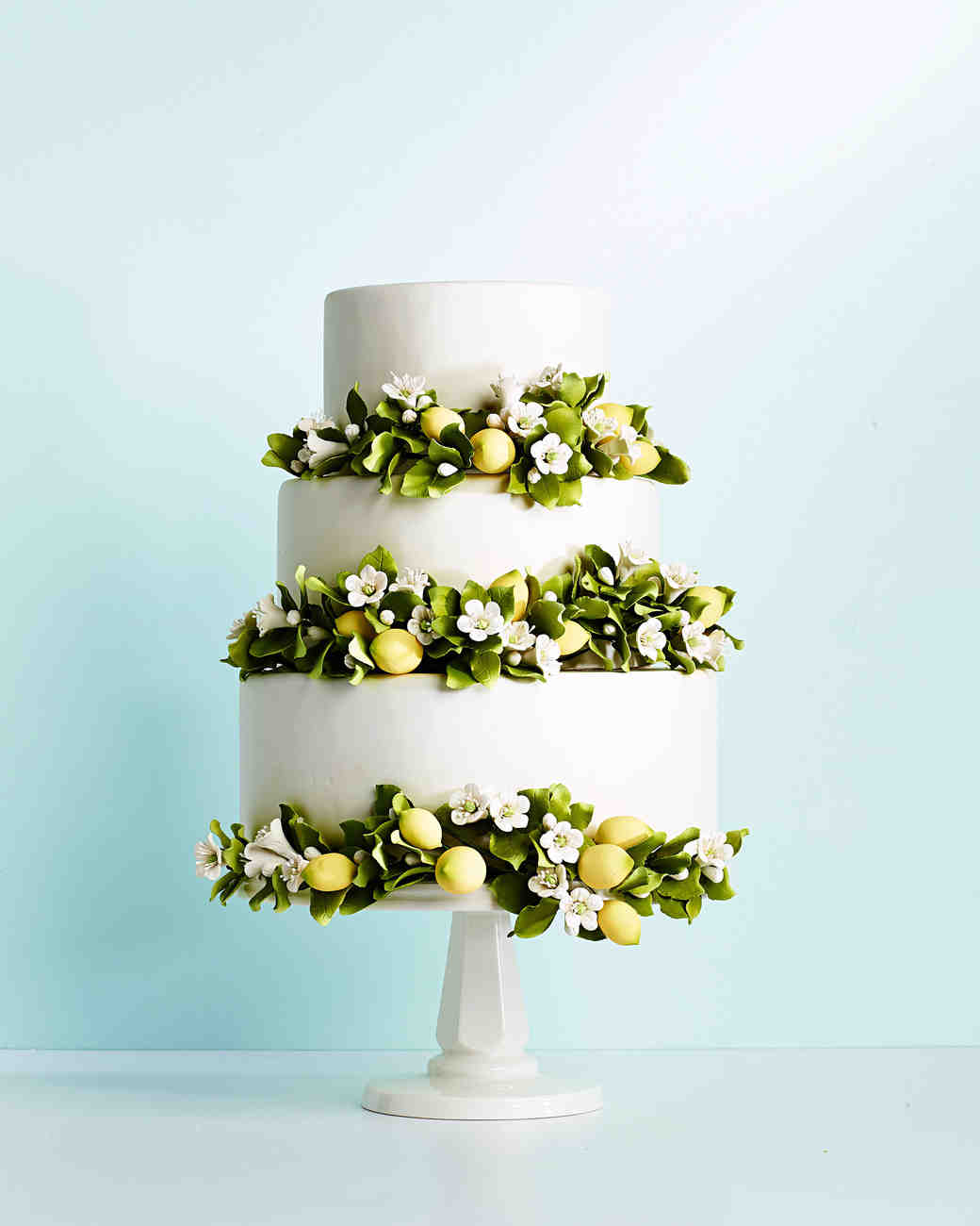 lemon blosson tiered cake
