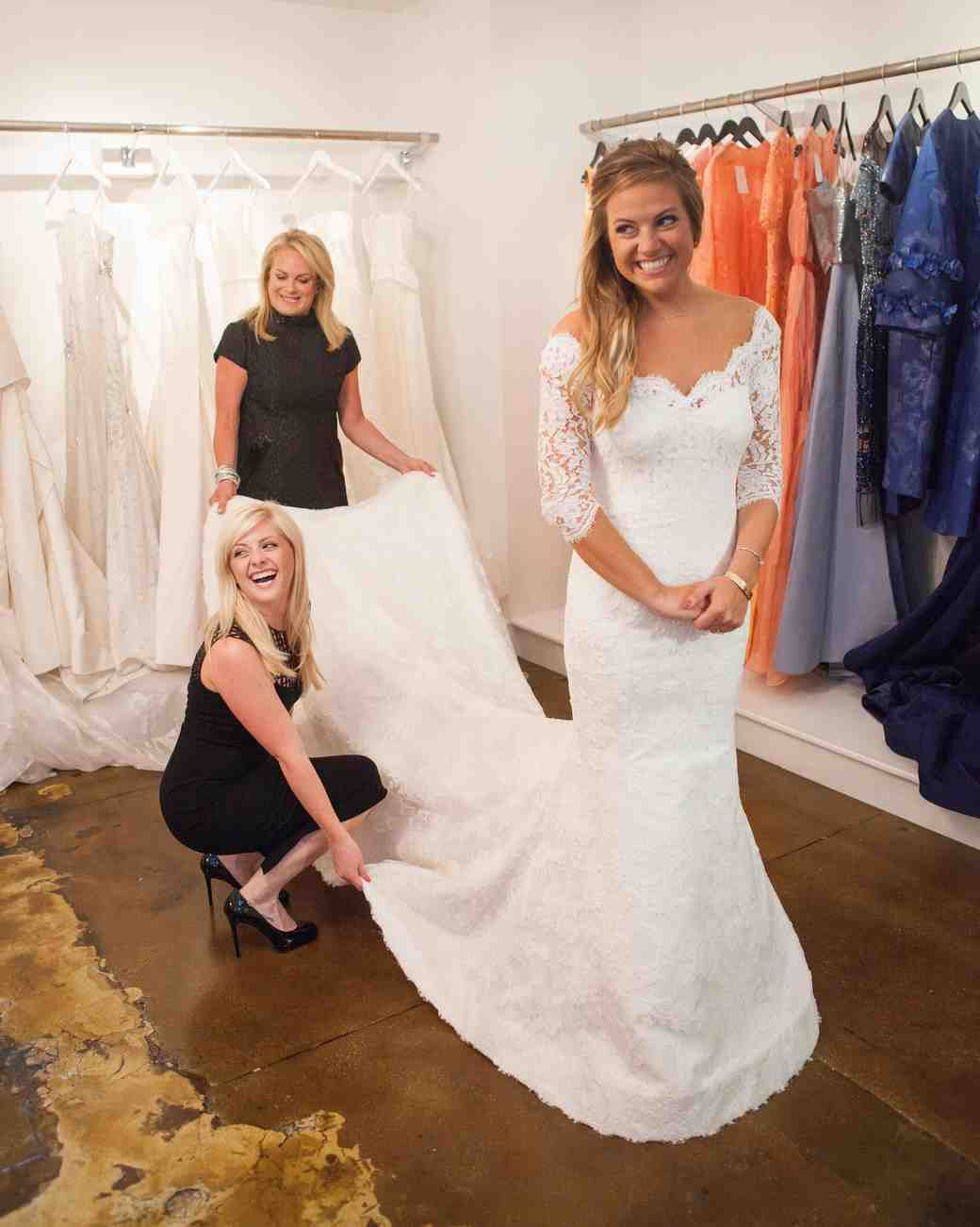 pamella roland dress fitting