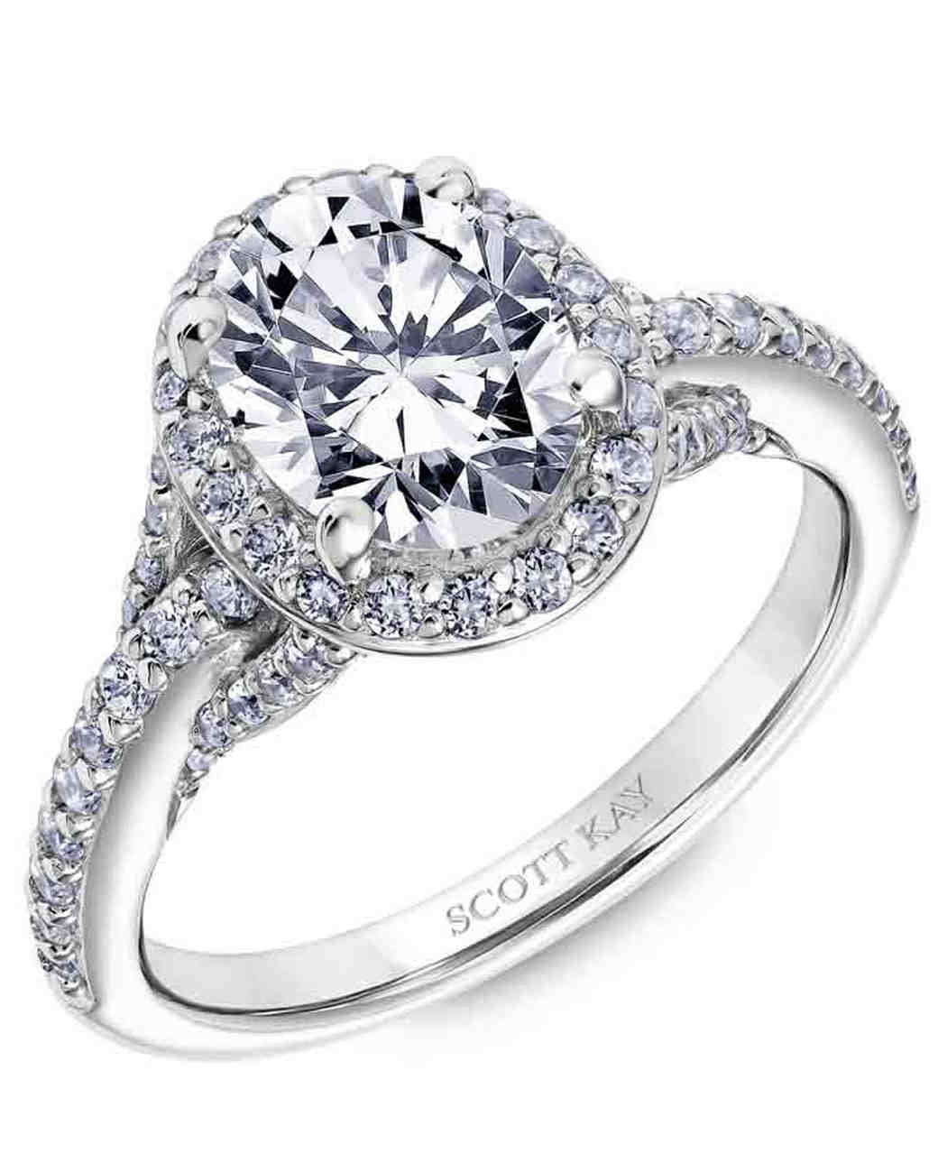 Scott Kay Oval Engagement Ring