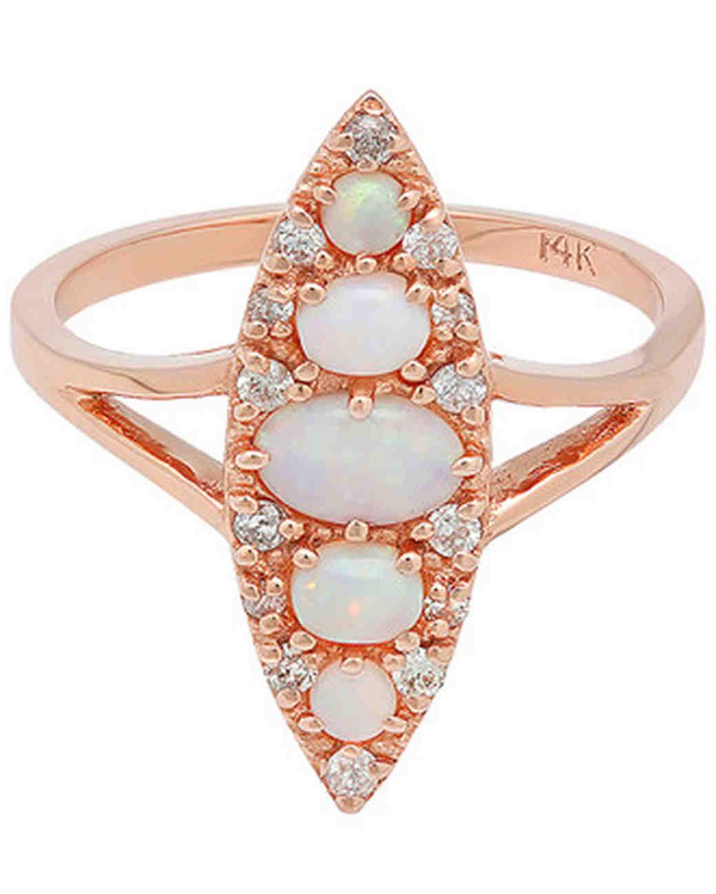 Stone Fox Bride Opal Engagement Ring