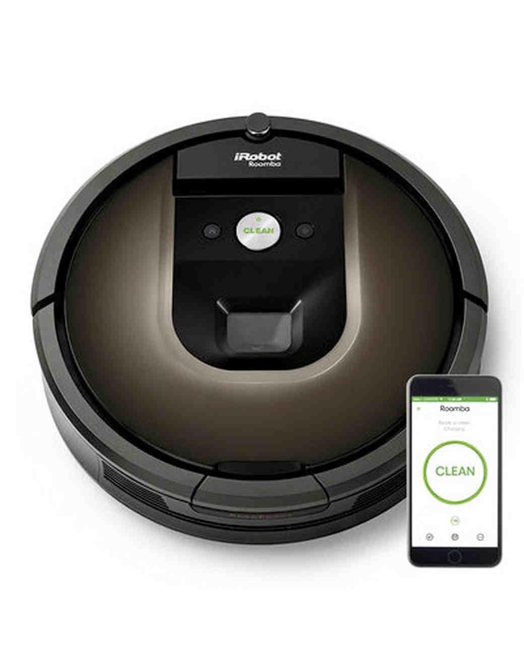 black roomba vacuum-cleaning robot