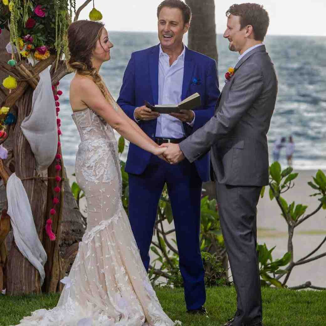 Carly Waddell and Evan Bass Bachelor in Paradise wedding ceremony