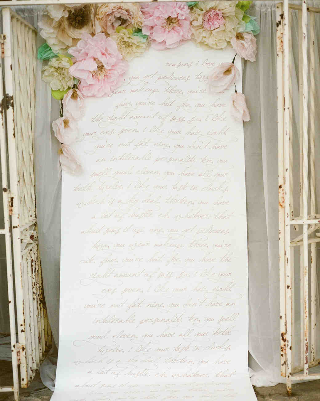Ceremony Program Floral Scroll