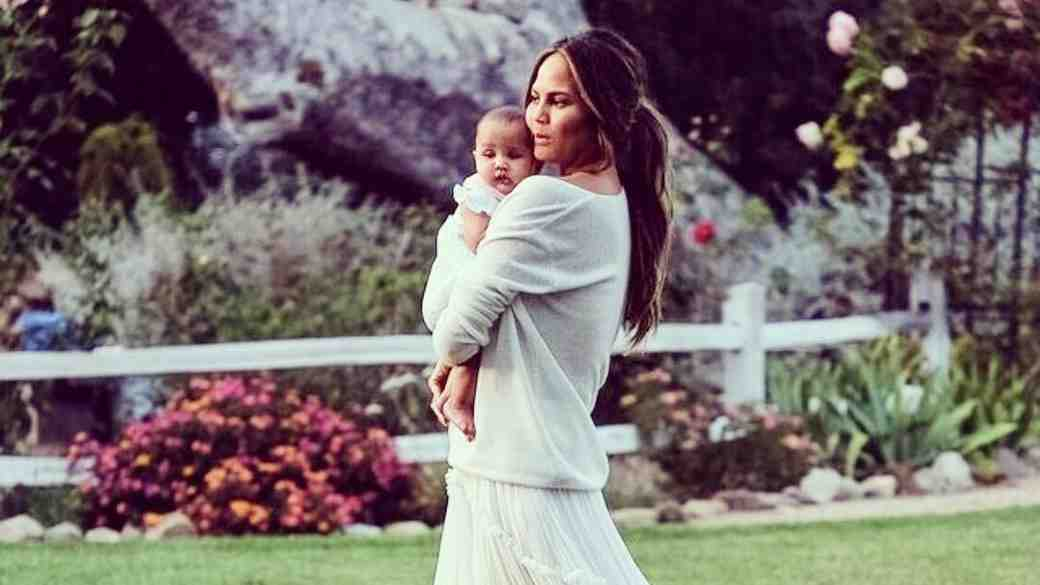 Chrissy Teigan and daughter Luna on their first Mothers Day