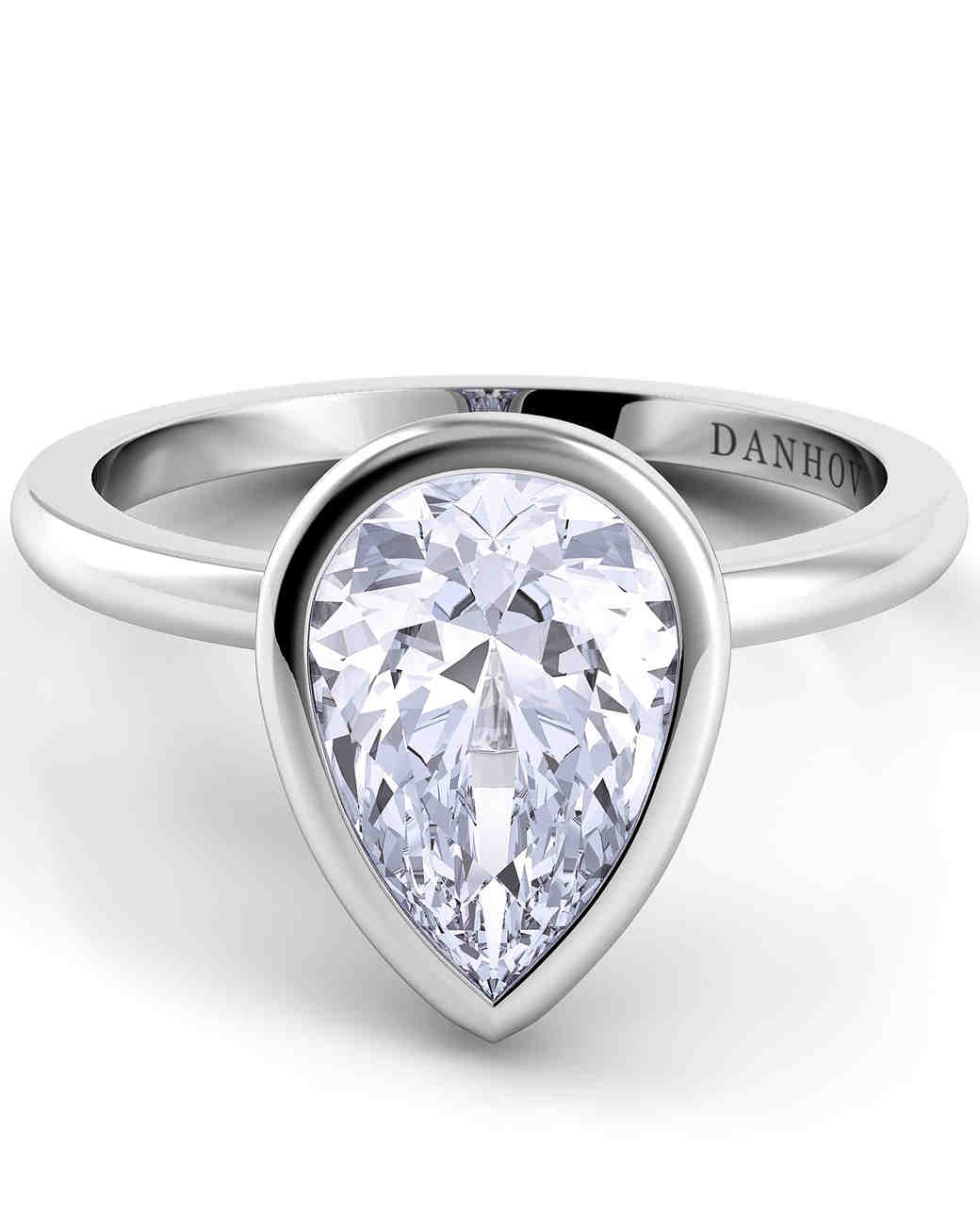 Danhov Pear-Cut Engagement Rings