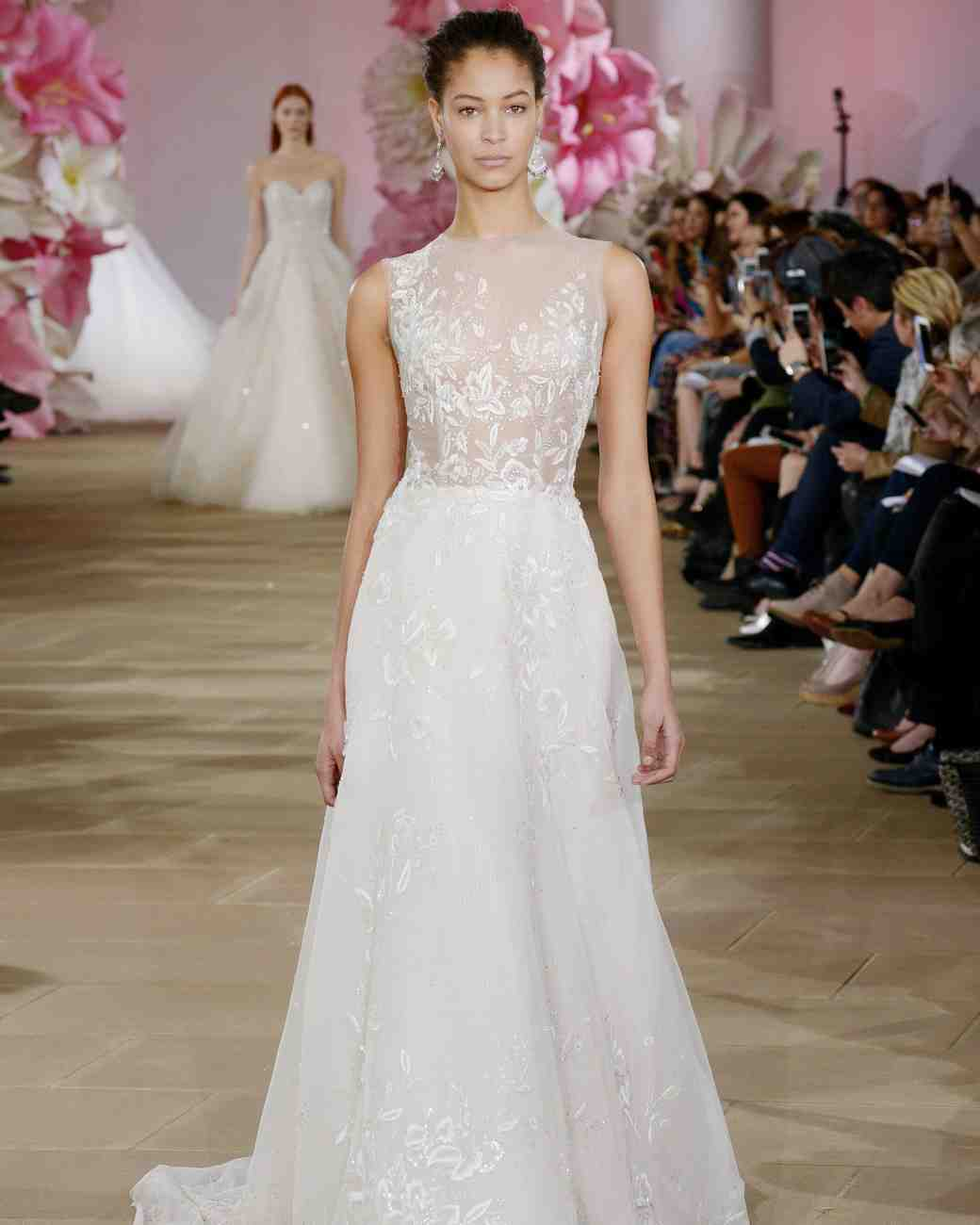 Ines di Santo simple a-line wedding dress with a natural waist