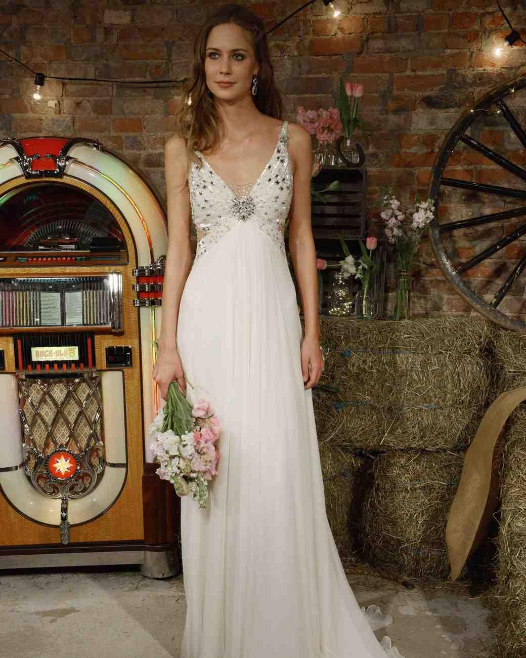 Jenny Packham Wedding Dress with Cutouts