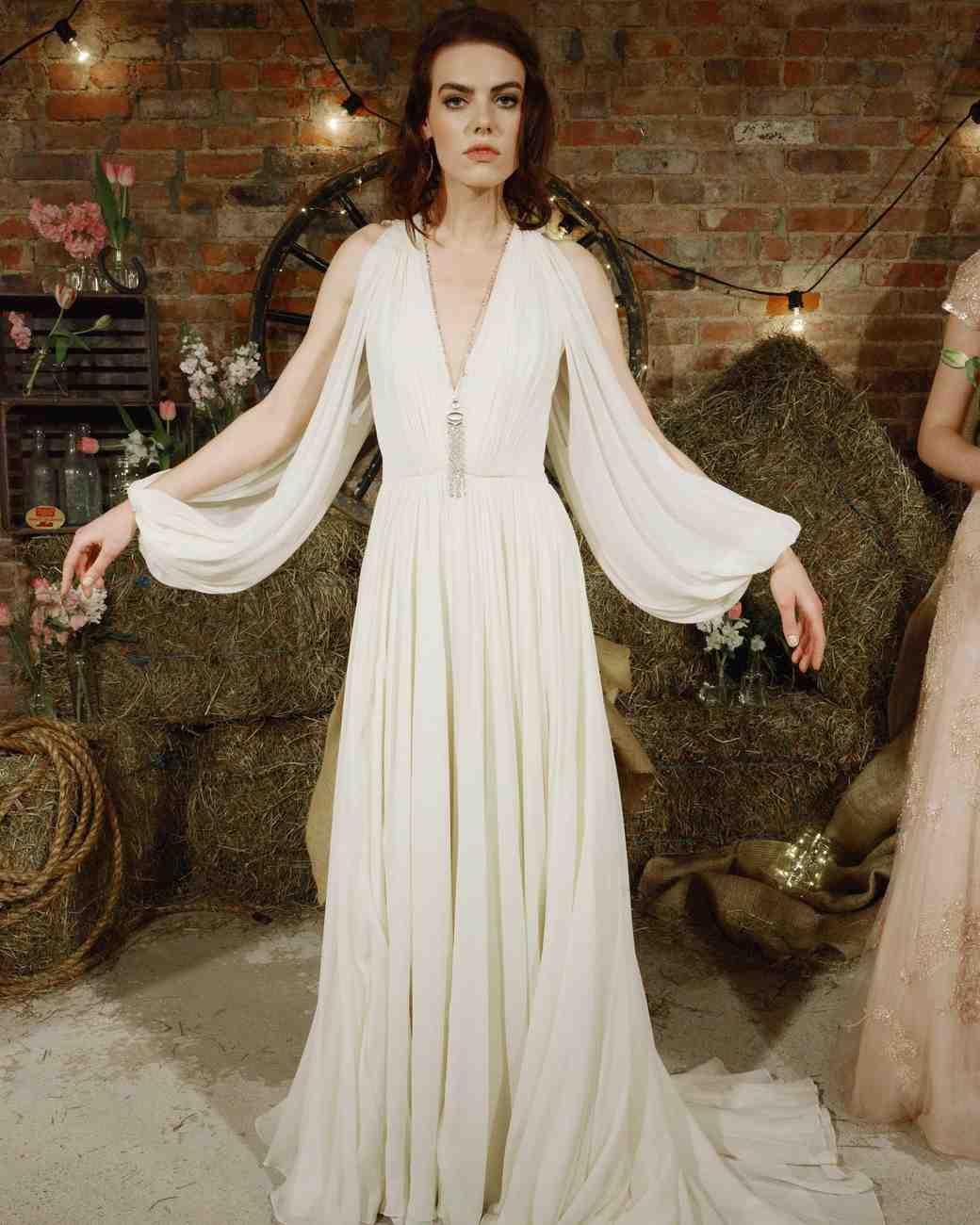 Jenny Packham Simple Boho Wedding Dress