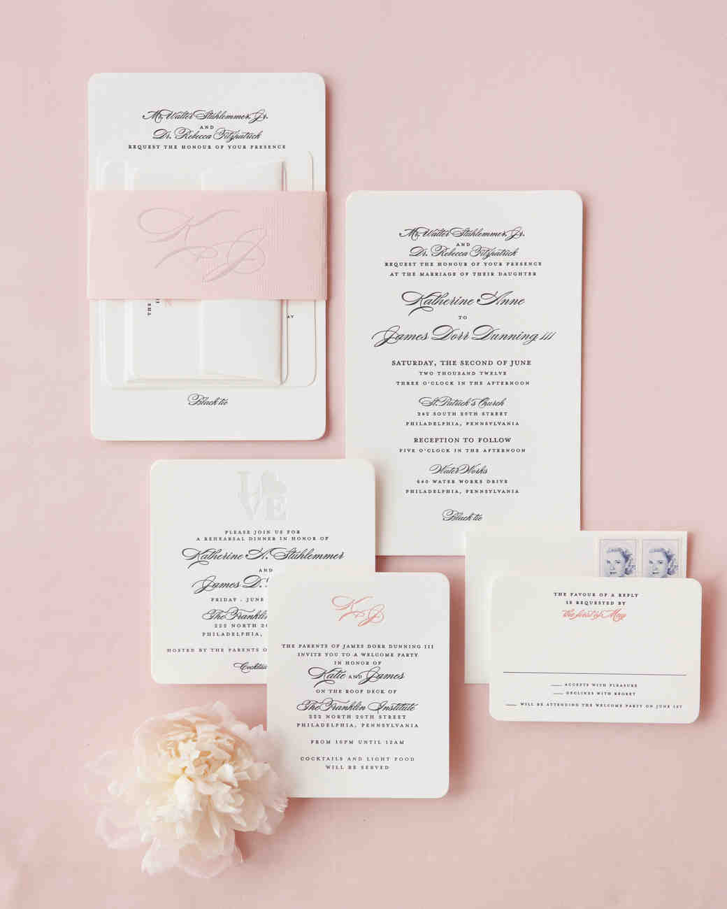 modern wedding invitations | martha stewart weddings, Wedding invitations