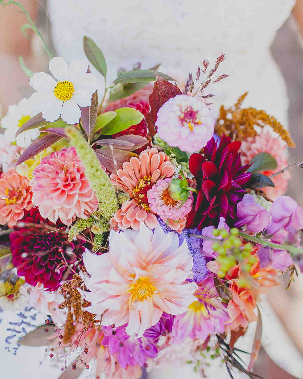 Bright, Colorful Nearly-Neon Wedding Bouquet