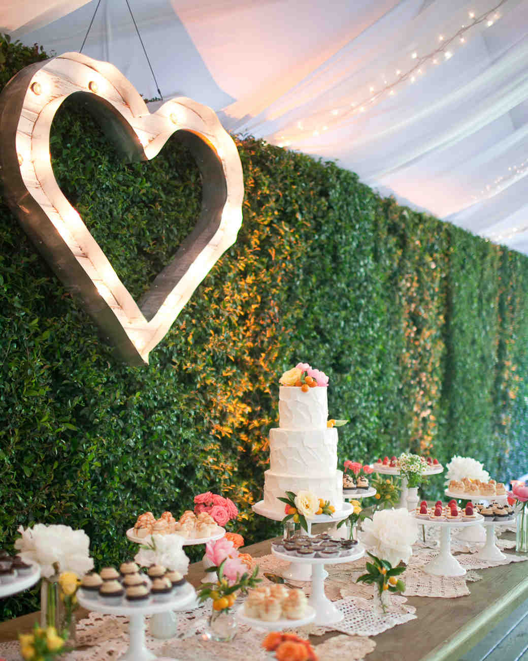 heart marquee sign