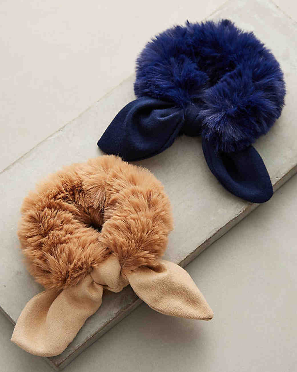 anthropologie faux fur ponytails