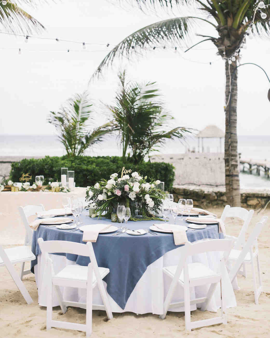 wedding reception on beach