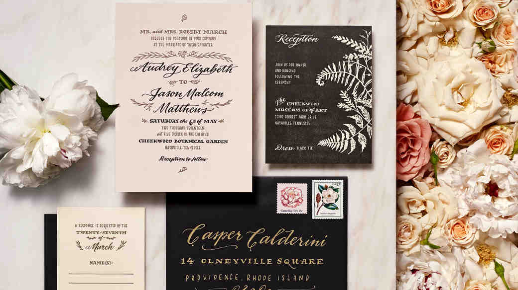 Botanical inspired stationery