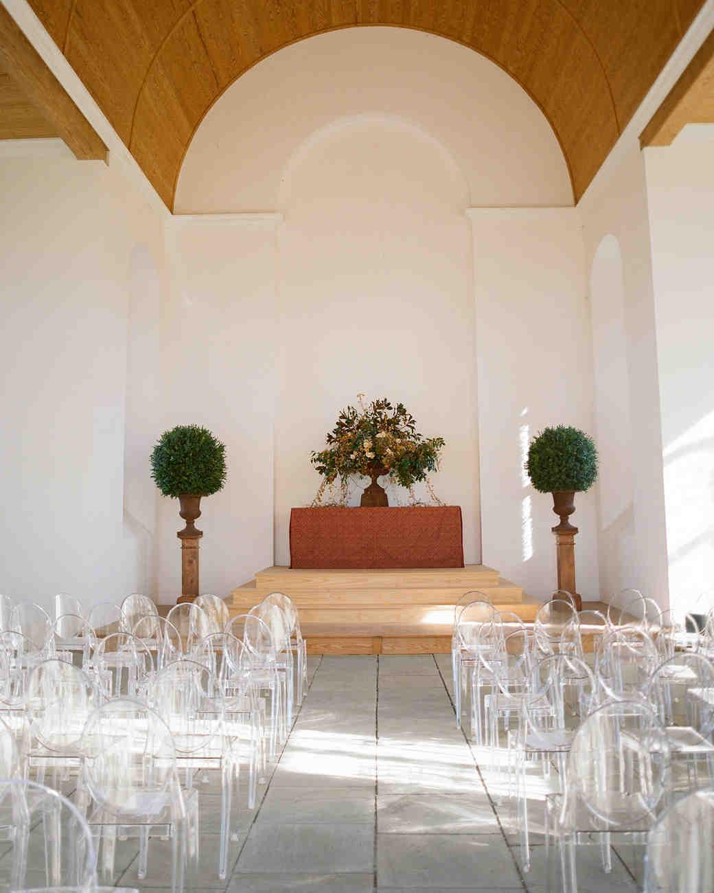 Lucite Wedding Ceremony Idea