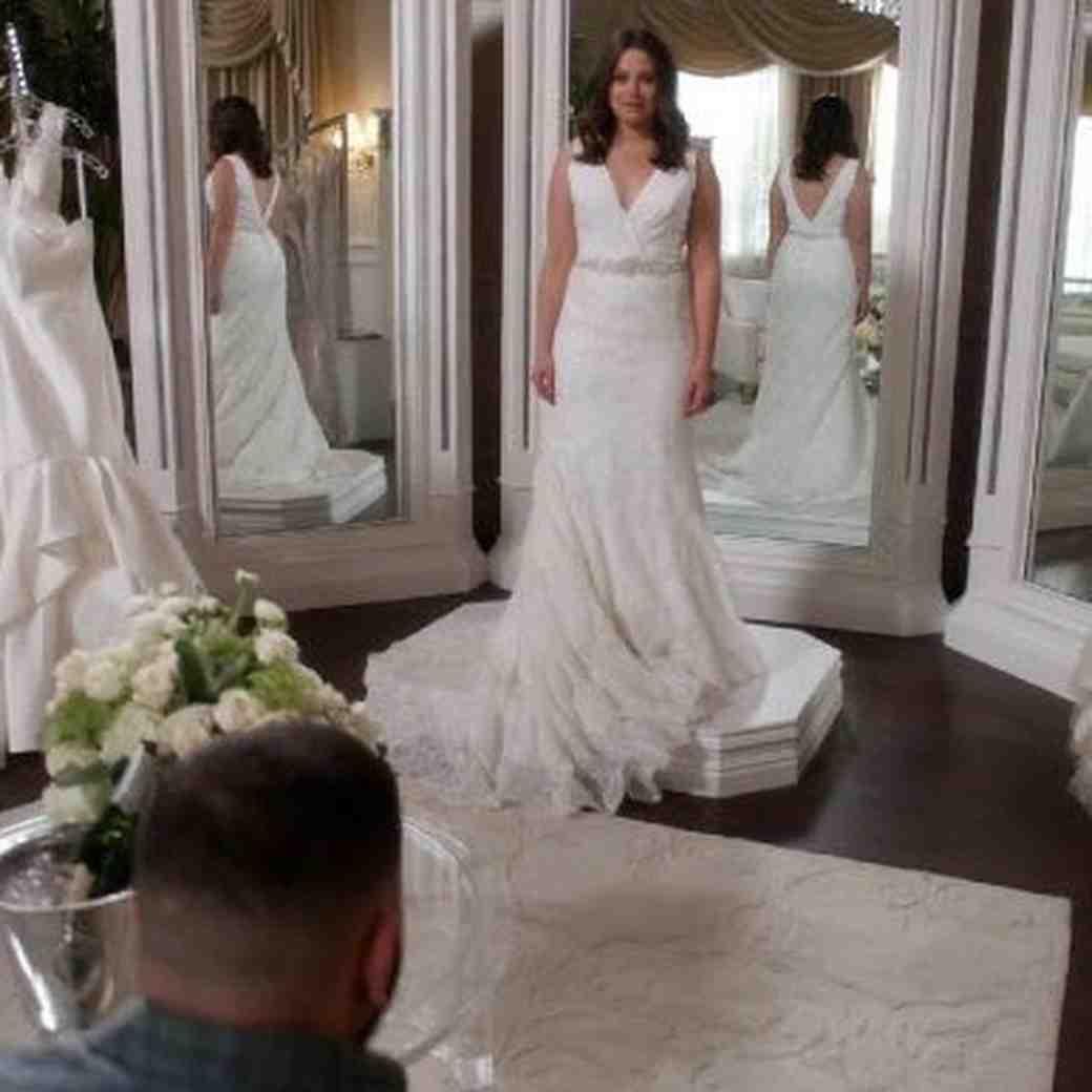 Scandal character Quinn Perkins wedding dress shopping