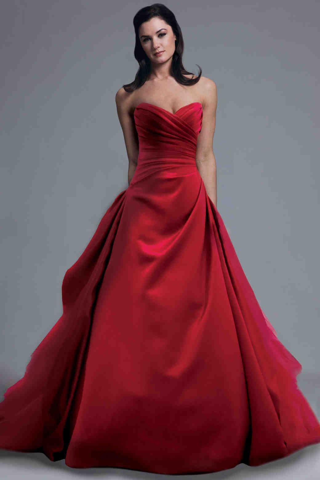 Red wedding dresses spring 2013 bridal fashion week for Red dresses for weddings bridesmaid