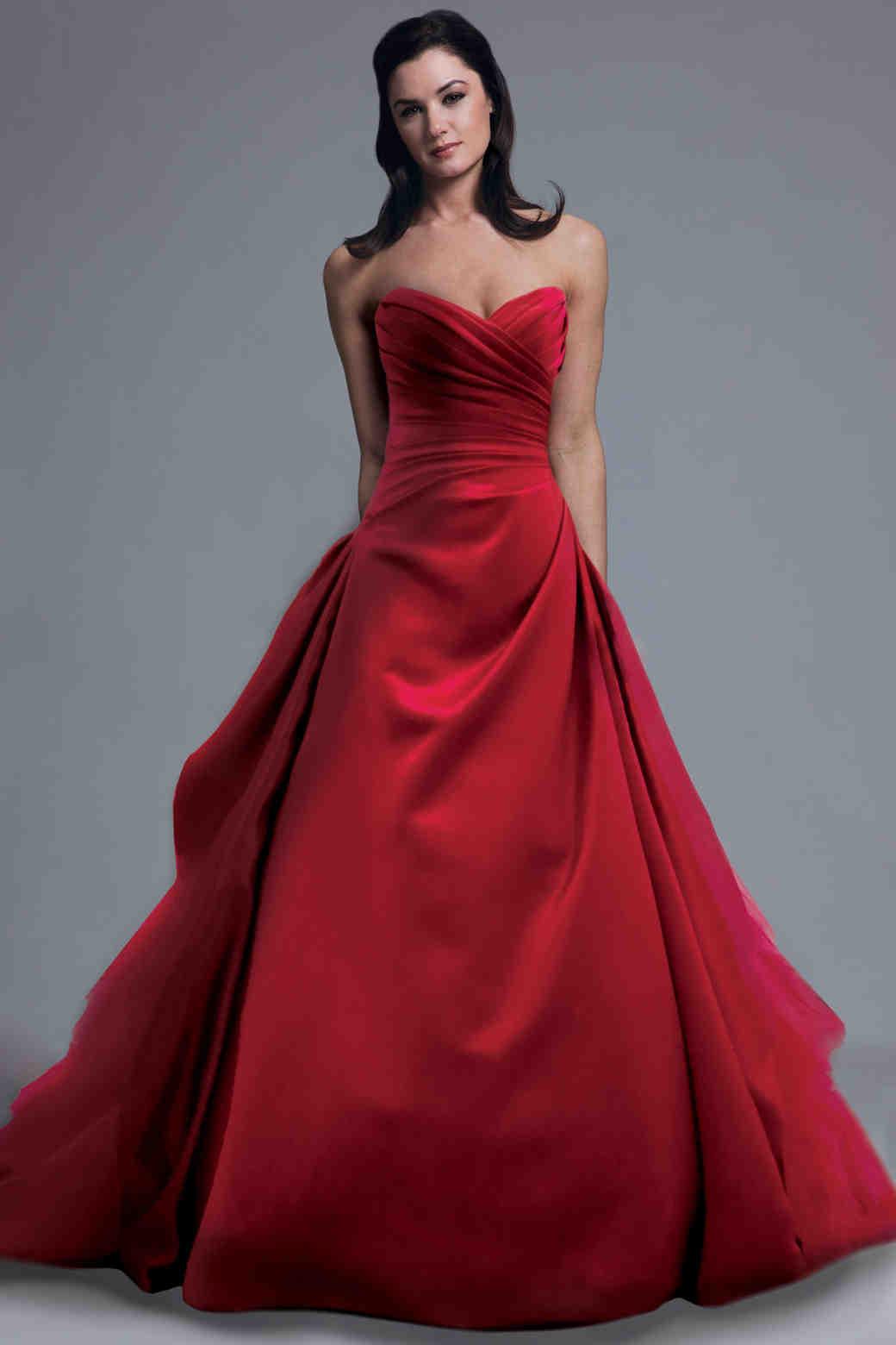 Red Wedding Dresses Spring 2013 Bridal Fashion Week
