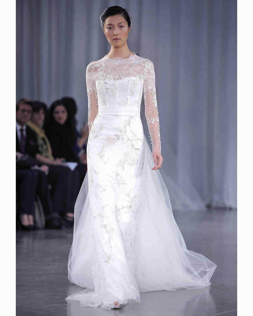 Long Sleeve Wedding Dresses Fall 2013