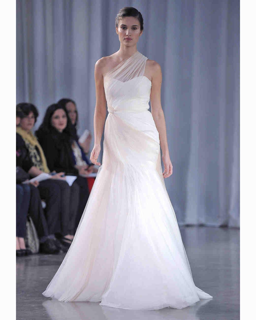 Simple Wedding Idea: One-Shoulder Wedding Dresses, Fall 2013