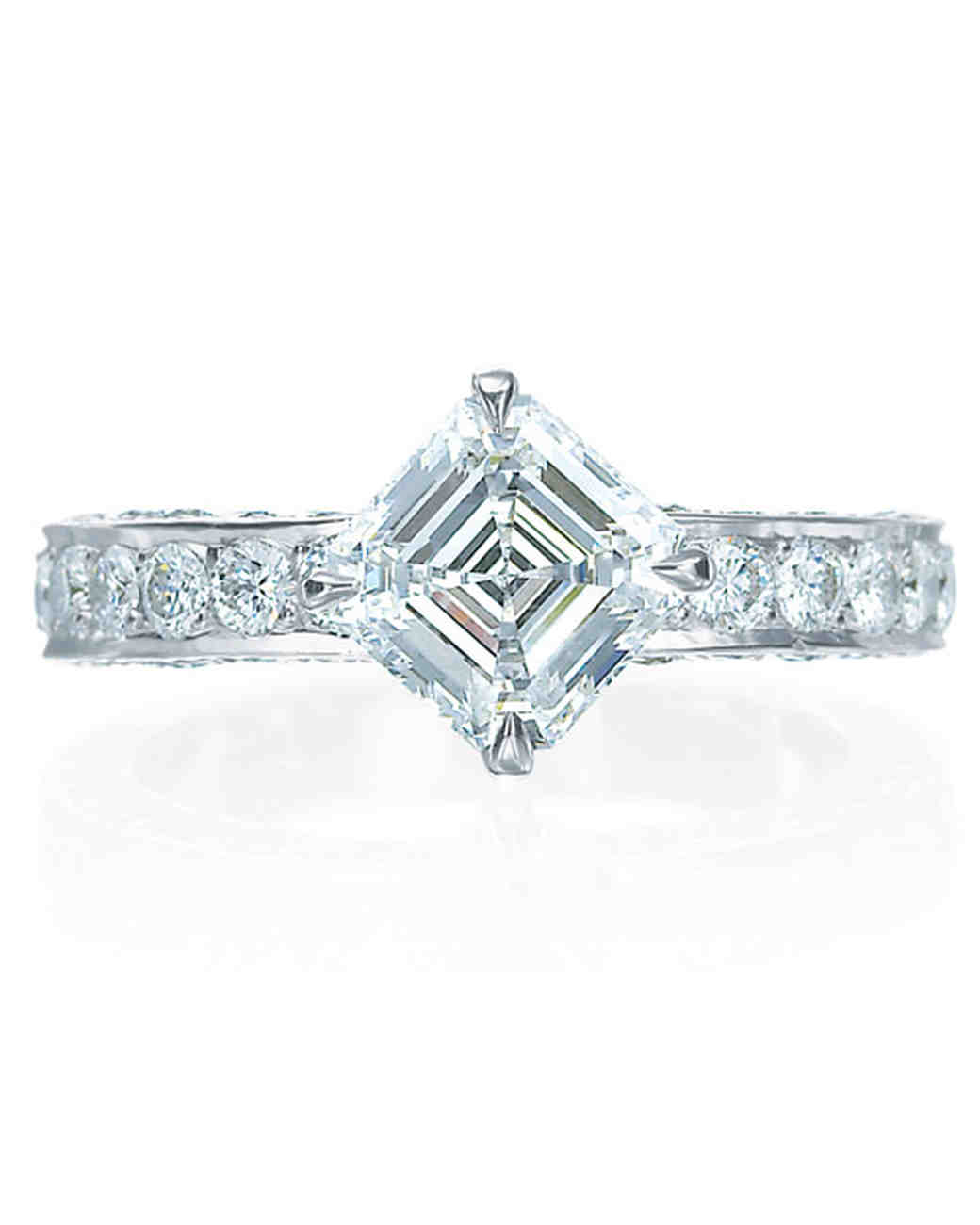 Royal Asscher Princess-Cut Engagement Ring