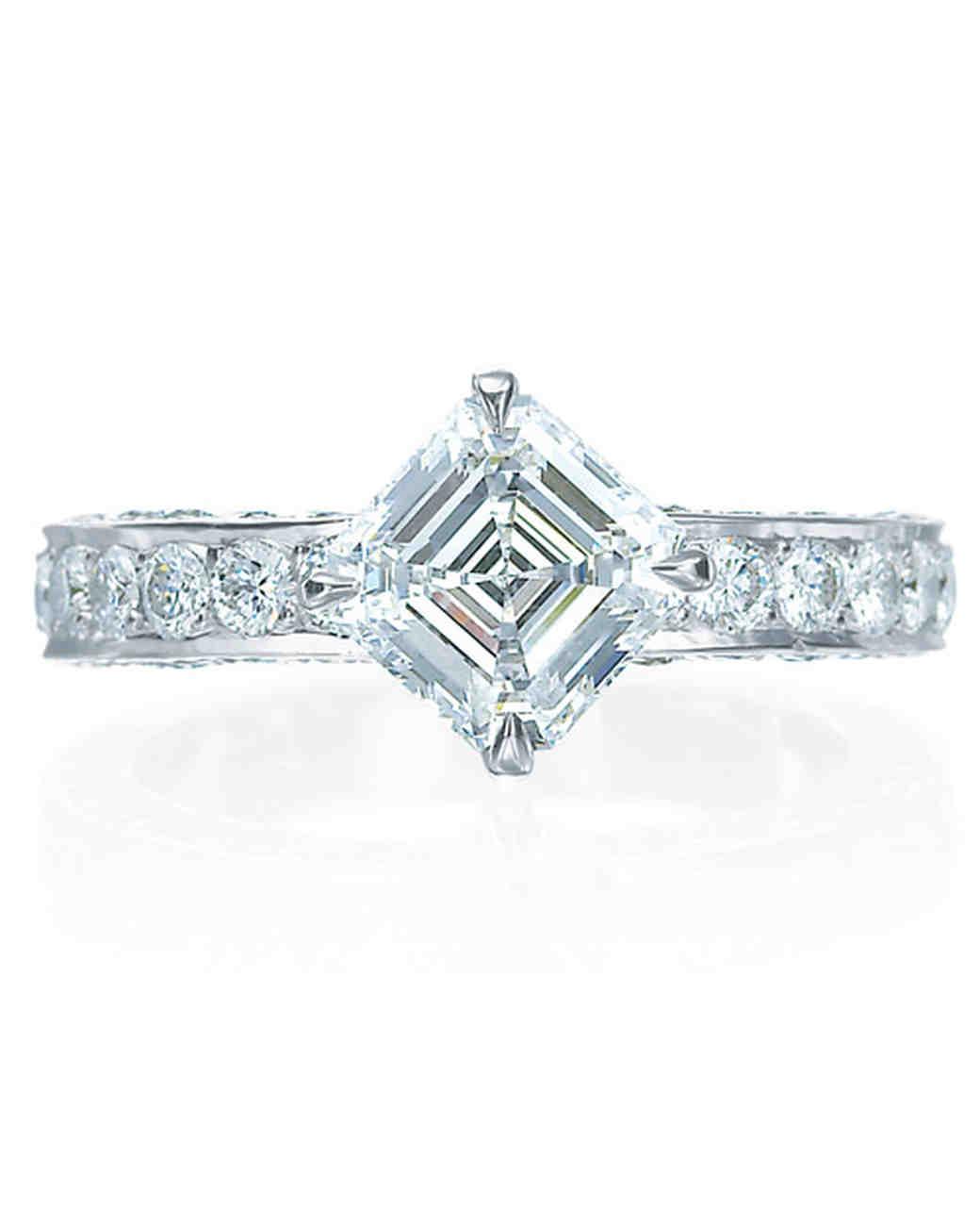 Royal Asscher Princess-Cut Engagement Ring