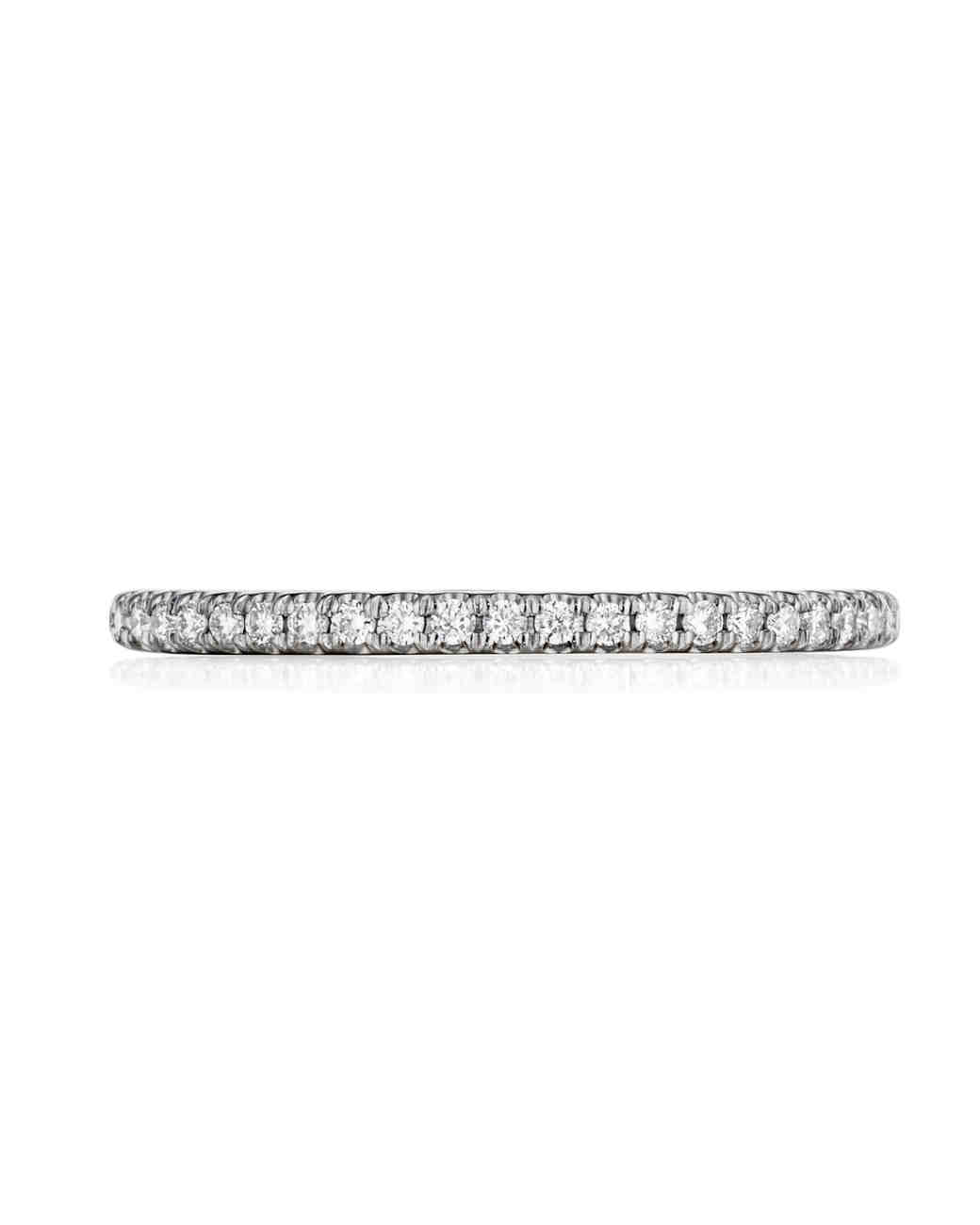 diamond eternity bands unique bride herself infinity diamond wedding band The Classics Henri Daussi Gold and Diamond Band