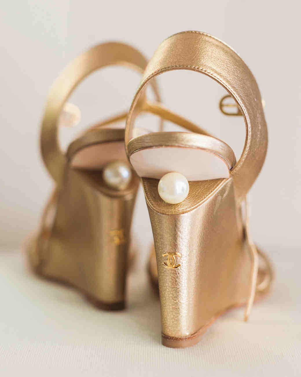 Gold Pearl Wedges