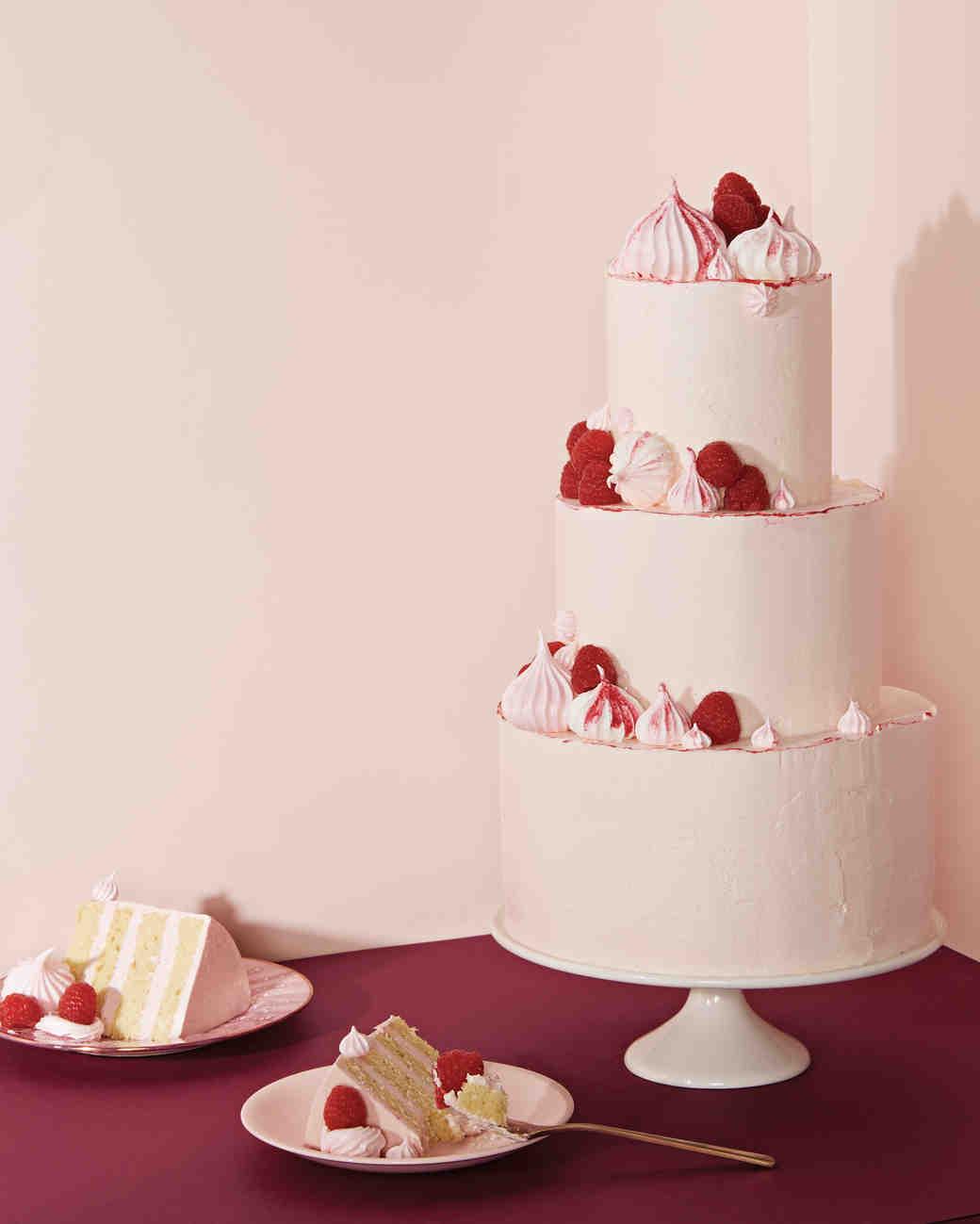 blush berry meringues cake