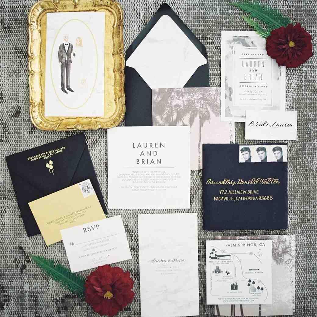 Fun And Formal Wedding Stationery