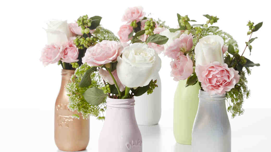 Milk Bottle Flower Vase Centerpieces