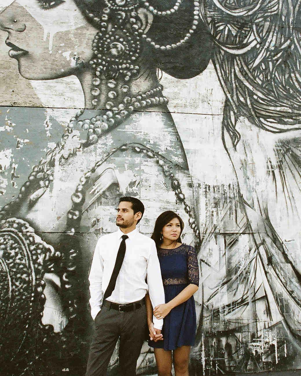 engagement photo couple portrait