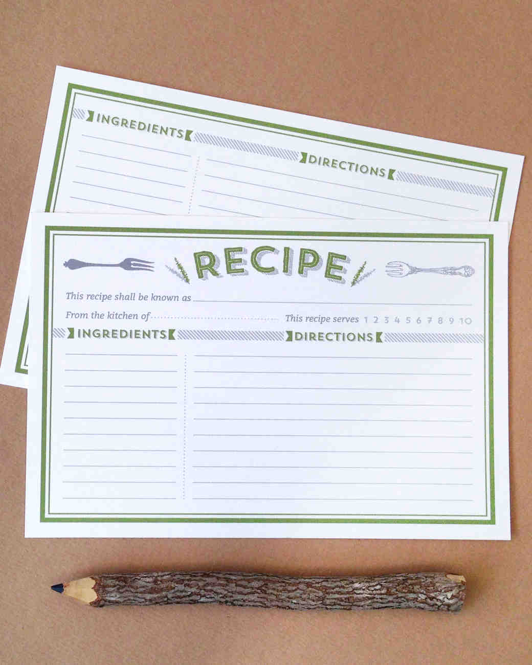 10 recipe cards that are pretty enough to become bridal shower heirlooms martha stewart weddings