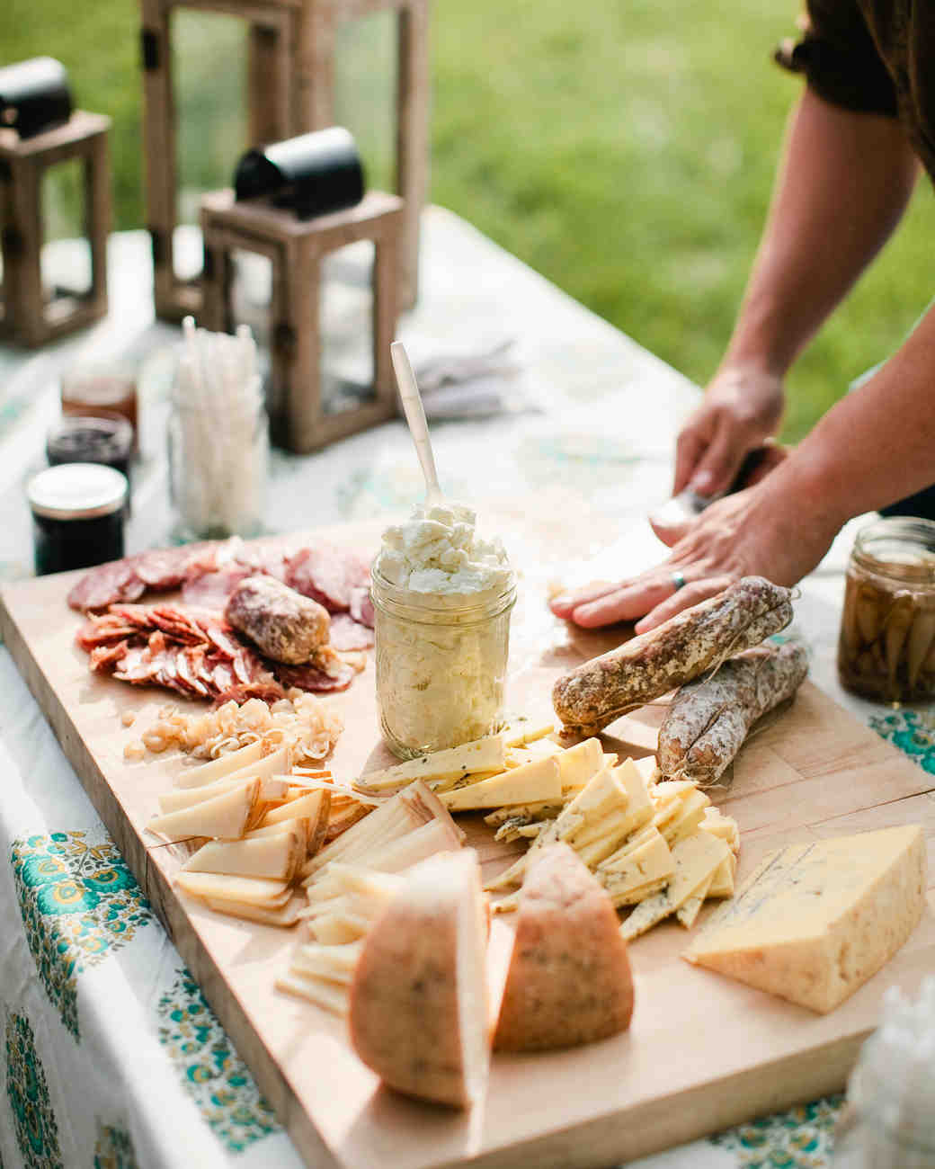 Southern Wedding Reception Food: Sally And Christian's Rustic Outdoor Rehearsal Dinner At